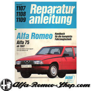 alfa 75 repair manual alfa romeo shop. Black Bedroom Furniture Sets. Home Design Ideas