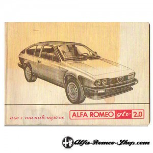 User manual Alfetta GTV 2.0